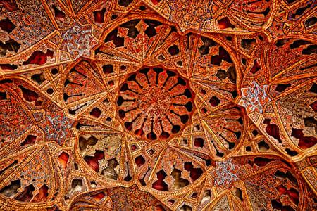 Ali Qapu Palace music hall ceiling Editorial