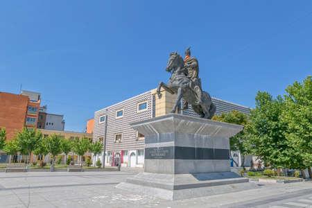 Scanderbeg statue Pristina 報道画像