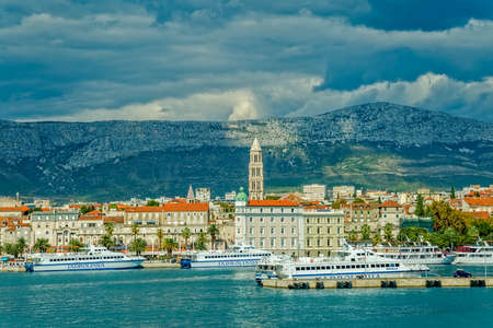 Arrival to Split by boat Editorial