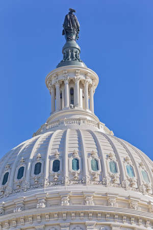 United States Capitol building dome in Washington DC 版權商用圖片 - 122139528