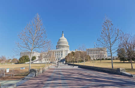 United States Capitol building in Washington DC Imagens
