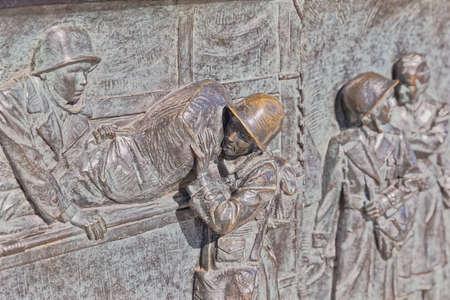 Relief Panel of World War II Memorial in Washington DC Editorial