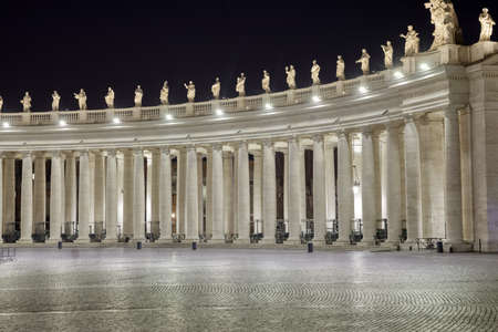 Lon exposure shot of the St. Peter square in Vatican Stock Photo