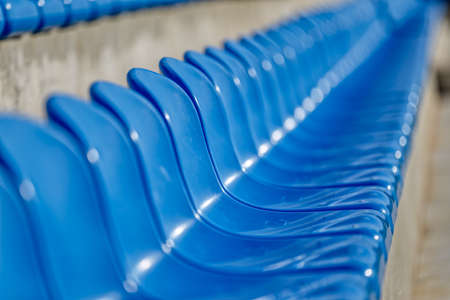 Blue Chairs At The Stadium