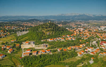 Sinj panoramic aerial view