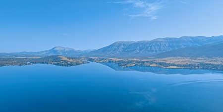 Reservoir lake Peruca at the river Cetina, Croatia Banque d'images
