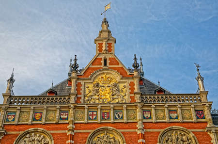 Amsterdam main train station Central Station Netherlands Banco de Imagens