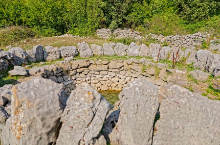 Roman wells detail in Rajcice near Split
