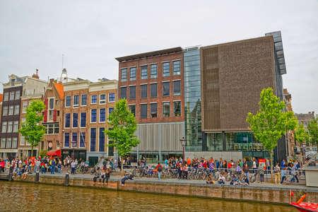 Amsterdam Anne Frank house in Prinsengracht street