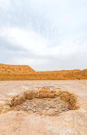 The central point in which they placed the bodies of deceased persons at the tower of silence in Yazd, Iran. Reklamní fotografie