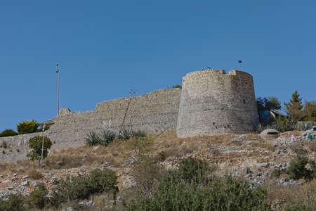 Lekuresi Castle historical ruins in Sarande Albania