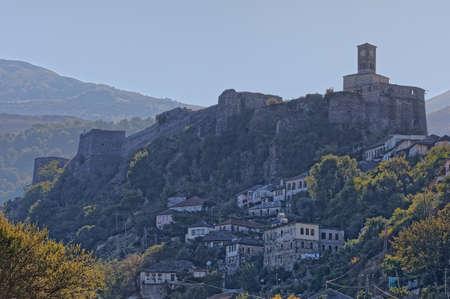 Old Gjirokaster town in Albania 免版税图像