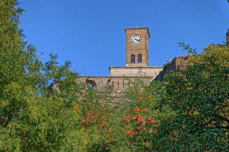 Old Gjirokaster clock tower in Albania