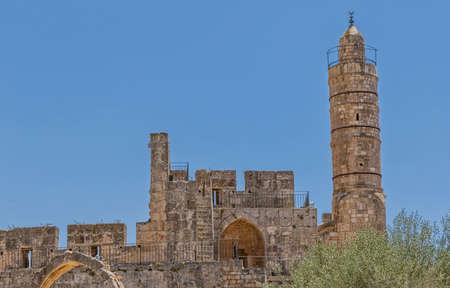 Jerusalem ancient Citadel 免版税图像