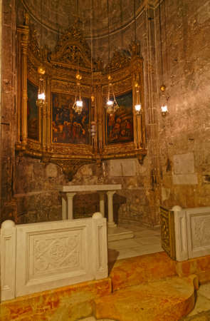 Greek Chapel of the Derision in the Holy Sepulchre Church in Jerusalem