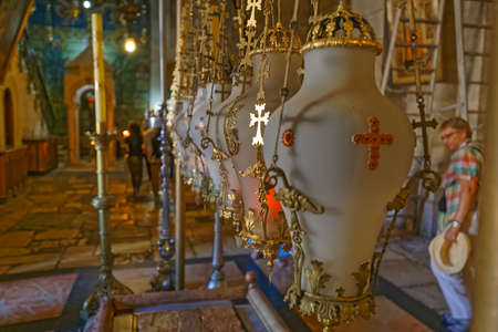 Stone of Unction in the Holy Sepulchre Church in Jerusalem