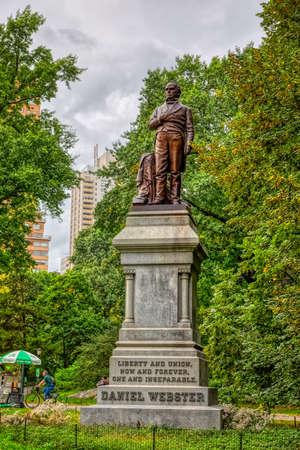 Daniel Webster sculpture in the Central Park, New York