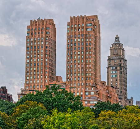 Majestic Apartments building view from the Central Park, New York