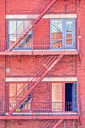 Typical fire escape staircase in New York