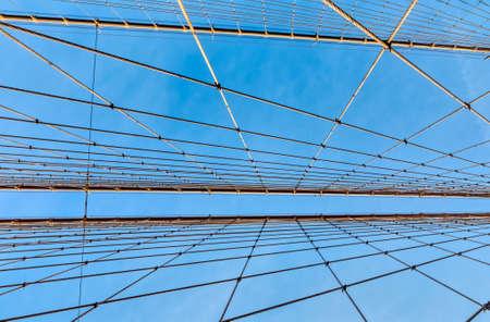 Brooklyn Bridge detail in New York