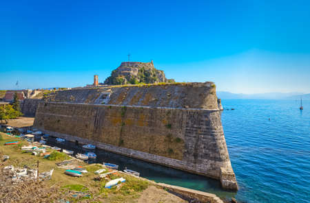 Old Venetian fortress passage in Corfu town Greece
