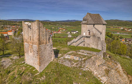 Remains of the fort Sokolac in Brinje Zdjęcie Seryjne