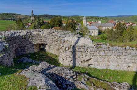 Panoramic view of the village Brinje in Croatia