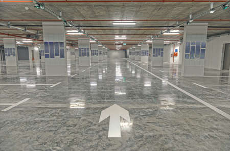 Poljana public underground garage interior in Sibenik old town Publikacyjne