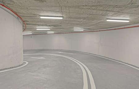Underground garage interior