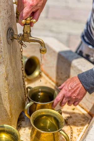 Hand washing Western Wall in Jerusalem Zdjęcie Seryjne