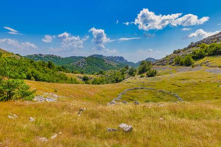 Velebit mountain green landscape in summer time