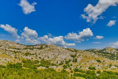 Mountain Velebit green landscape in summer time