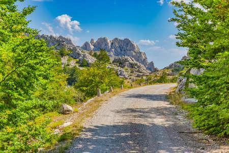 Famous Majstorska cesta road at mountain Velebit