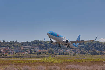 Tui Boeing 767-300 taking off at the Corfu International Airport Publikacyjne