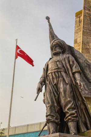 Istanbul Statue of the Barbarossa Hayreddin Pasha in Besiktas