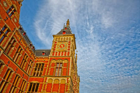 Amsterdam main train station Central Station Netherlands Zdjęcie Seryjne