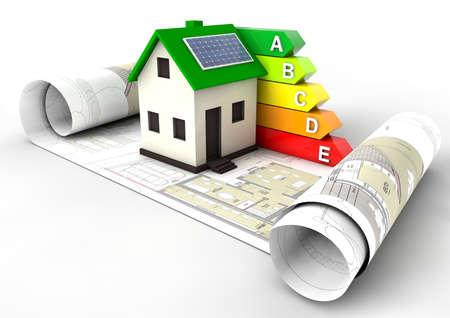 energie: Energieeffizienz-Bewertung House Lizenzfreie Bilder