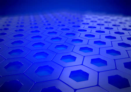 a3: Abstract Blue Reflective Business Background with depth of field Rendered in A3 - 300 dpi