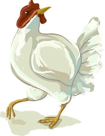 Dancing Hen Illustration