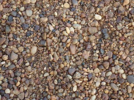 textura: pavimento coperto di piccole pietre