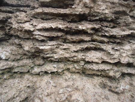 ruggedness: alterato pietra in una calcara abbandonata Archivio Fotografico