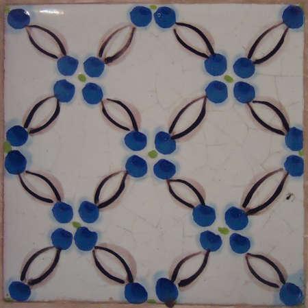 Venetian tile made in the mid 19th century azulejo veneciano realizado a mediados del  siglo 19 telha de Veneza feita em meados do século 19
