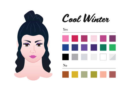 Best colors for Cool Winter color type