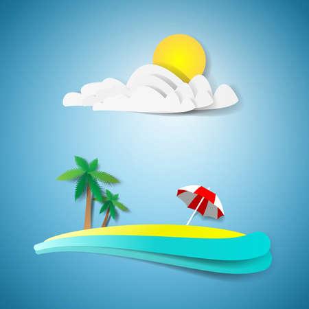 paradise place: Tropical paradise design Illustration