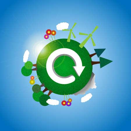 Tierra - ilustración ecológica