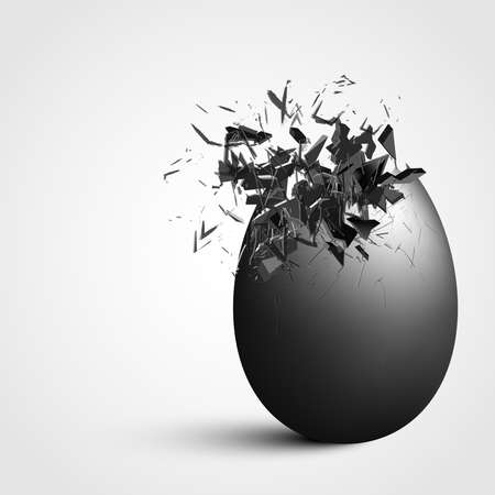shatter: Detailed exploding egg Illustration