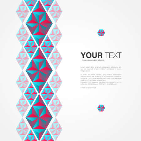 Minimal design with your content abstract background, Eps 10 stock vector illustration Illustration