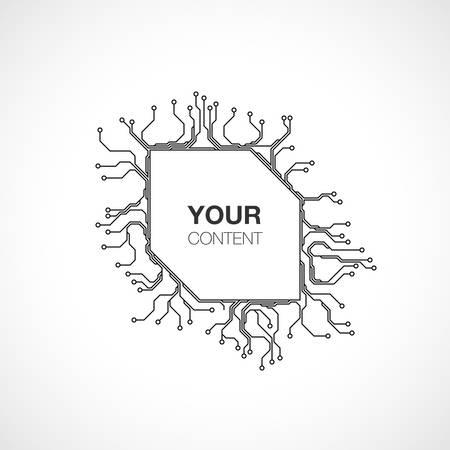 Zone de texte détaillée arrière-plan de conception de circuit imprimé pour votre contenu stock infographie vector illustration eps 10 Banque d'images - 75006107