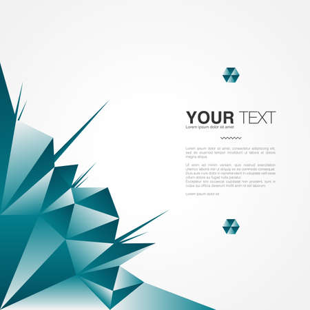 Poster design with your text, minimal abstract background, Eps 10 stock vector illustration