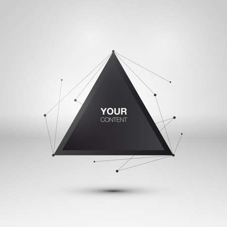 Abstract triangle text box design vector Illustration
